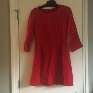 Zara red dress large